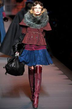 Dior winter 2012 / poupée russe / blue, purple, pink, velvet...