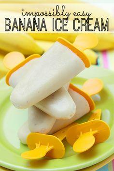 Impossibly Easy Banana Ice Cream - definitely trying this! easi banana, easy banana dessert, recipes banana ice cream, easy banana recipes, snack, banana icecream recipe, treat, kid
