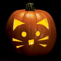 Kitty Cat Pumpkin Carving