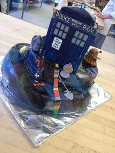 AWESOME CAKE!! Doctor Who cake/Aidan's off keto celebration!