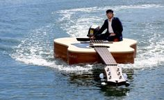 Guitar Boat, Sydney Harbour, Australia   photo from dailymail
