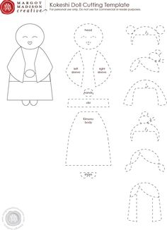 MargotMadison: Make Kokeshi Dolls with this free printable! use it for paper or felt