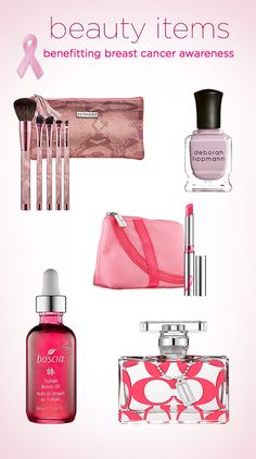 Beauty products for Breast Cancer Awareness Month