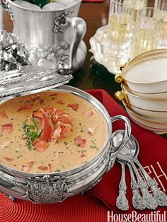 Lobster Bisque--one of my favorite holiday recipes!