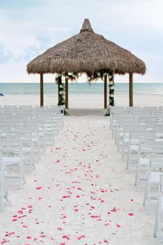 Sandy aisle at Marco Island Marriott Beach Resort in Florida
