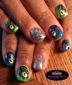Peacock Nails<3