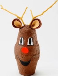 It's amazing what you can do with just two clay pots. Make this Reindeer With Brown Texture Paint for a great Christmas craft. You'll have a cute, decorative craft to put on display.