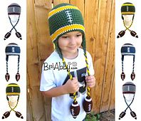 Ravelry: Football Beanie of Awesomeness pattern by Joni Memmott / BriAbby Limited time for free