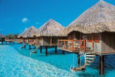 Overwater Bungalows in #Bora Bora - on my #Travel #BucketList  : )