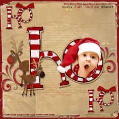 Christmas baby page idea