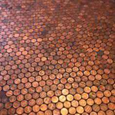 Penny floor tile...how cool!