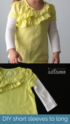 how to make short sleeves long | great tutorial for extending the life of a favorite shirt! #sewing #altering #DIY #tee #tshirt