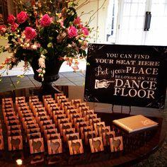 Cute wooden escort cards!