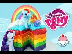 ▶ RAINBOW CAKE! How to Make a My Little Pony Rainbow Layer Cake with Cupcake Addiction - YouTube