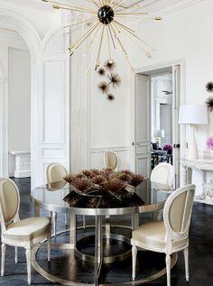 Francois Catroux table in Lauren Santo Domingo's Paris home