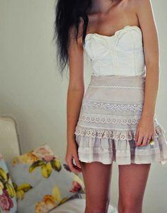 skirt, lace, fashion, style inspir, cloth