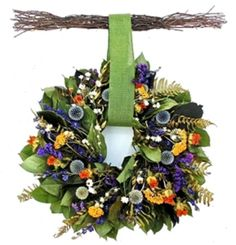 Wreaths For Door - Spring Echinops Dried Wreath With Birch Twig Hanger, $59.99 (http://www.wreathsfordoor.com/spring-echinops-dried-wreath-with-birch-twig-hanger/)