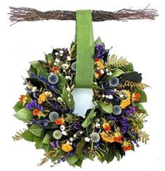Wreaths For Door - Spring Echinops Dried Wreath With Birch Twig Hanger, $59.99 (http://www.wreathsfordoor.com/spring-echinops-dried-wreath-with-birch-twig-hanger/)