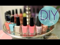 DIY Rotating Nail Polish & Jewelry Display EASY Cute How To Make - YouTube