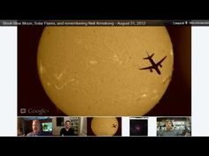 Slooh Space Camera Solar Feed with Jet Passing By during Blue Moon event - August 31, 2012