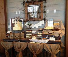 shower ideas, dessert tables, wedding receptions, vintage weddings, vintage wedding food table