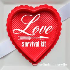 Valentine Survival Kit | TodaysCreativeBlog.net by Melinda Tomasello