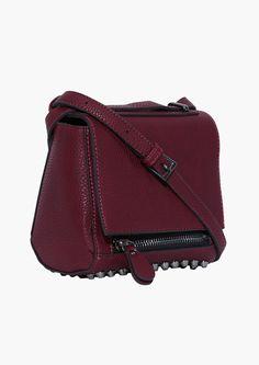 Alex Studded Bag in Burgundy//