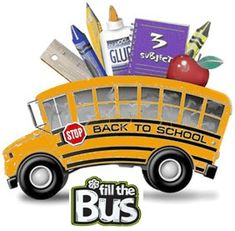 Help us fill the bus! Drop of supplies at the Yeagers store on 4910 Jenny Lind in Fort Smith on Friday, July 26 & Saturday, July 27.