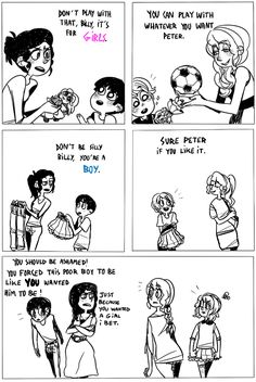 TG comic. Sometimes, moms dont realize that they aren't helping by tryin to get you to fit gender stereotypes....