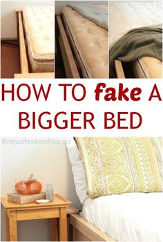 so smart!!  wrap a few large blankets around your mattress to fake a bigger size.  part of a 31 day series of super simple and practical ideas that will change your every day