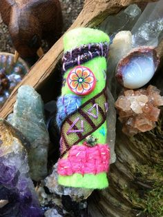 sparkles for your lovely locks  dread bead by phunwears on Etsy, $25.00