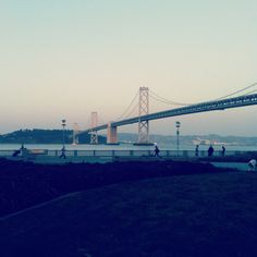 The Bay Bridge.