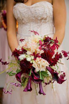 Purple and Burgundy Fall Bouquet | #bouquet #weddingbouquet