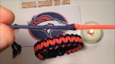 Denver Broncos paracord bracelet instructions. Here is the video on how to make the denver broncos paracord bracelet Super bowl survival bracelet will look great with your team jersery