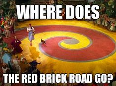 Oh my...watched this a million times and never saw the red brick road....hahahaha @Regan Leahy