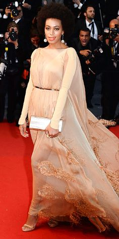 Solange Knowles in Stéphane Rolland Couture in Cannes 2013