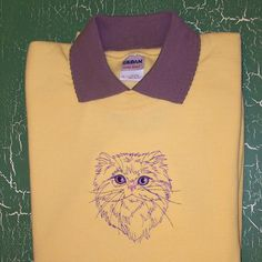Persian Cat Embroidered Sweatshirt by CountryTrlCollection on Etsy, $35.00