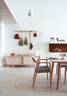 intérieur pastel wood