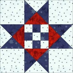 "2010 Blocks of the Week   ""Freedom Stars"" from Dreamcastle Quilts"