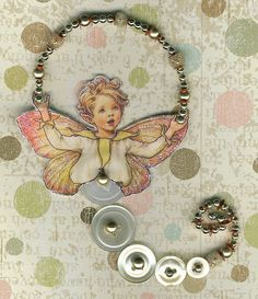 Button Fairy for Erika | Flickr - Photo Sharing! fairies, button fairi, dragon fairi, fairi magic, button craft, buttons, busi bookmark