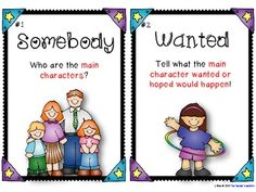 Summarizing cards - SWBSF, poster cards and writing pages - FREEBIE