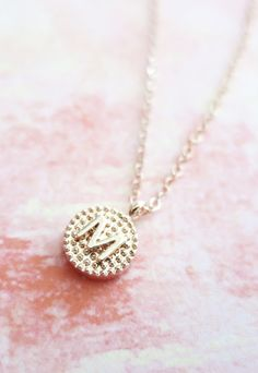 Personalized Rose Gold Letter Necklace Rose Gold