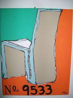 Gehry Side Chair Painting on Etsy, $75.00