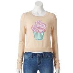 LC Lauren Conrad Embellished Crop Sweater - Women's #Kohls