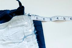Taking in Jeans at the Side Seam Tutorial | Freshly Picked