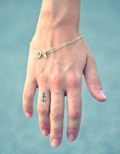Finger Anchor Tattoo