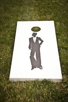 Cornhole Groom's Silhouette ~ pretty snazzy guy! Photography by cmcdadephotography.com