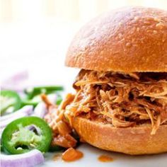 Low-Calorie Barbecue Pulled Chicken Recipe #eatingwell