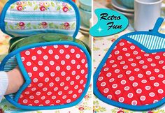 Quilted Mitt Pot Holders