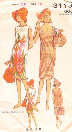 vintage 60's dresses patterns